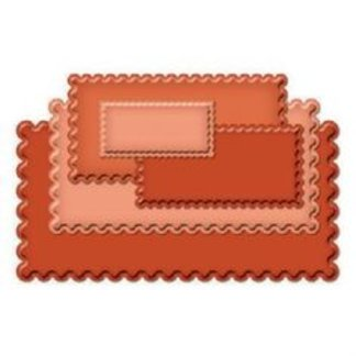Long Classic Scalloped Rectangles